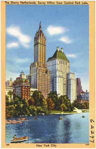 The Sherry Netherlands, Savoy Hilton from Central Park Lake, New York City
