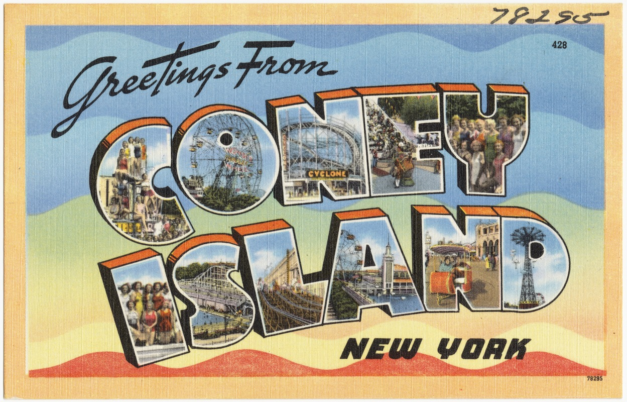 Greetings from coney island new york digital commonwealth greetings from coney island new york m4hsunfo