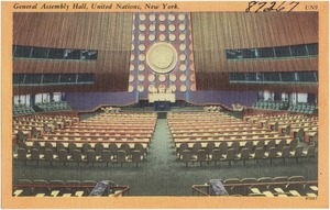 General Assembly Hall, United Nations, New York.