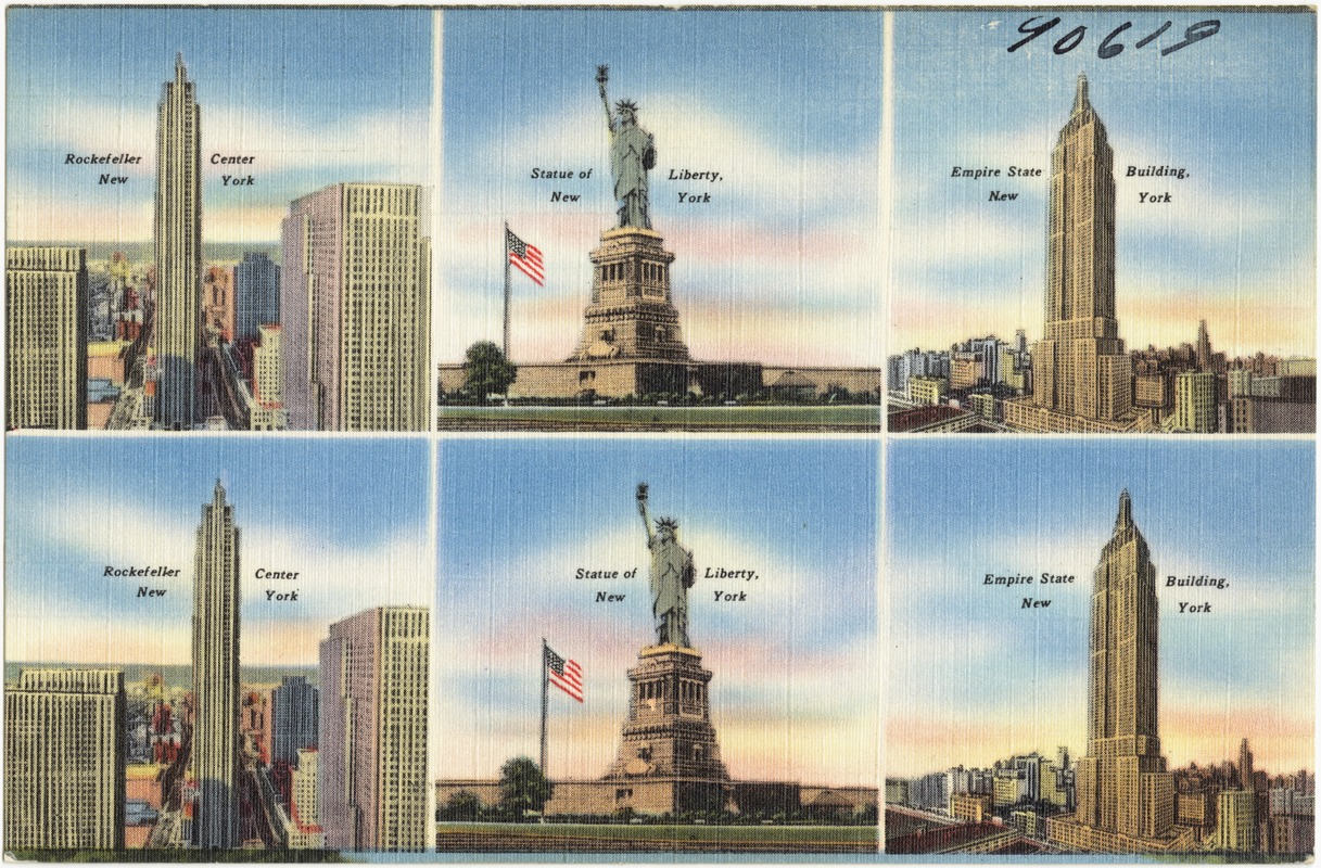 Rockefeller Center New York Statue Of Liberty New York Empire - Nyc map empire state building