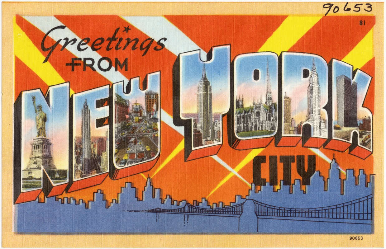 Greetings From New York City Digital Commonwealth
