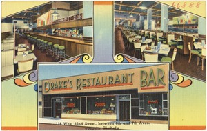 Drake's Restaurant Bar, 116 West 32nd Street, between 6th and 7th Aves., opposite Gimbel's