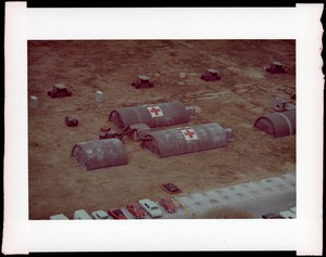 AMEL, shelters, inflatable hospital, field (aerial)