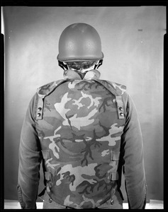 Armor branch, back view with vest + old helmet