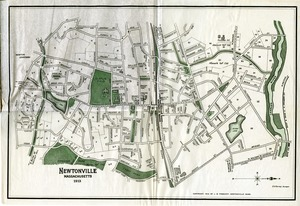 Some Newtonville homes - Map of Newtonville, Massachusetts, 1913 -