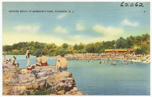 Bathing beach on Barbour's Pond, Paterson, N. J.