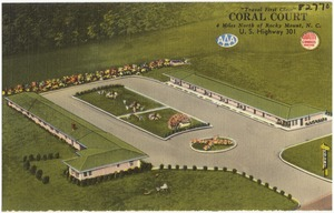 """Travel first class"", Coral Court, 4 miles north of Rocky Mount, N. C., U.S. Highway 301"