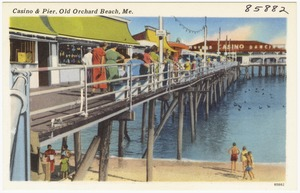 Casino & Pier, Old Orchard Beach, Me.