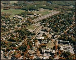 Aerial photo of Bridgewater State College campus