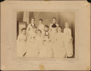 Dana Hall Senior Specials, 1887