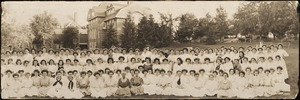 Dana Hall Students 1908 with Helen Temple Cooke, Principal