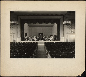 Dana Hall Orchestra on Bardwell Stage, mid-1930's