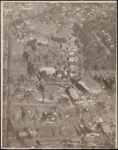 Aerial view of Dana Hall Campus, Before 1970, c. 1968