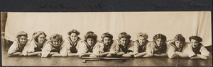 Junior Hockey Team, 1910, on floor