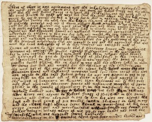 "Handwritten agreement between Ebenezere Goanes and Nathaniell Morgane of Springfield with Robert Poagg of Hatfield to ""teach the childrene""; 1754 [?]"