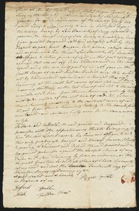 Deed, Roger Conant of Surry, New Hampshire, to Levi Hancock of Surry, 1780