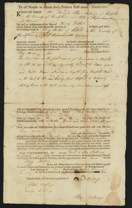 Deed, David and Silas Billings to Perez Morton, 1802