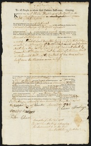 Deed, Oliver Hastings to Samuel Partridge, 1786