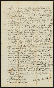 Deed, Nicholas and Mary Bartlet of Dalton to Oliver Morton, 1799