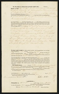 Deed, Cotton and Nancy Morton to Israel Morton, 1834