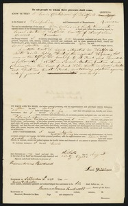 Deed, Lewis Dickinson to Israel Morton, 1838