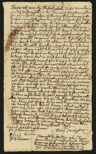 Deed, Amos Davis Jr. of Westmoreland, NH, to Jonathan Morton, 1776 (?)