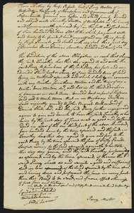 Bond, Perez Morton to Timothy Dutton of Northfield, 1796