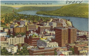 Wheeling, West Virginia, showing the Ohio River