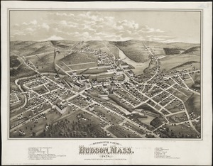 Bird's eye view of Hudson, Mass