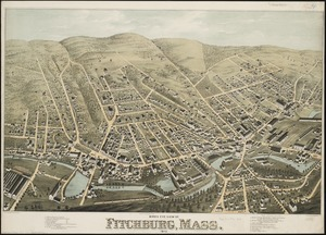 Bird's eye view of Fitchburg, Mass