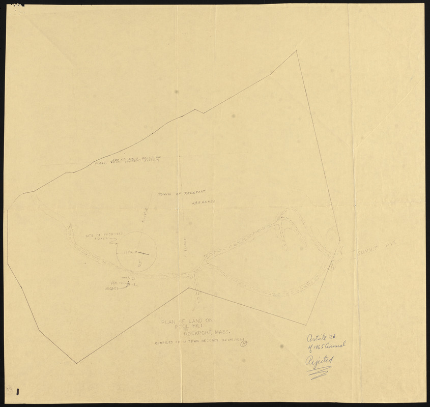 Plan of land on Pool Hill, Rockport, Mass.