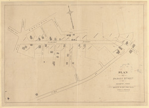 Plan of Parker Street in Rockport, Mass.