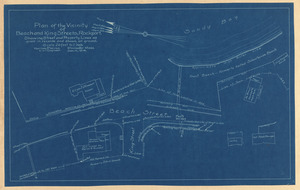 Plan of the vicinity of Beach and King Streets, Rockport, showing street and property lines as given in records and shown on ground