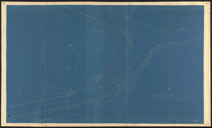 """A"" sketch showing proposed changes of line at Beach & Granite Sts., Rockport, Mass."
