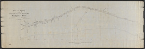 Plan of the highway from Railroad Ave. to the Great Hill, Rockport, Mass.