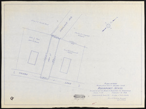 Plan of way, Highland Ave. to Calebs Lane, Rockport, Mass.