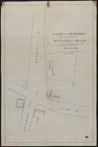 Plan of the highway at the junction of Railroad Ave—King St.