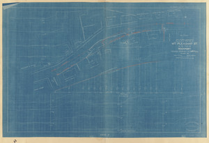Plan of a portion of Mt. Pleasant St. in the Town of Rockport showing proposed alterations