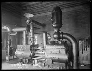 Clinton Sewerage, engine room in Pumping Station, Clinton, Mass., Mar. 12, 1901