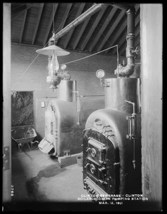 Clinton Sewerage, boiler room in pumping station, Clinton, Mass., Mar. 12, 1901