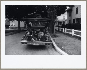 Children in an automobile