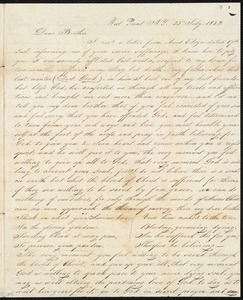 Letter to his brother William, 7/23/1832