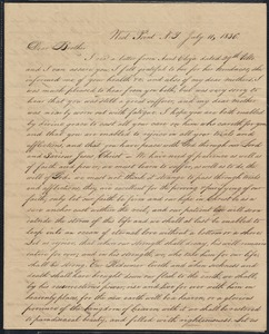 Letter to his brother William, 7/11/1836