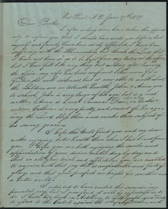 Letter to his brother William, 6/17/1839