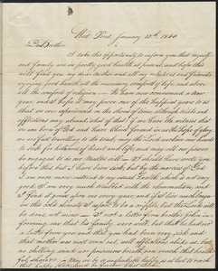 Letter to his brother William, 1/12/1840