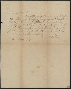 Letter to Elizabeth Aspinwall, 3/27/1889