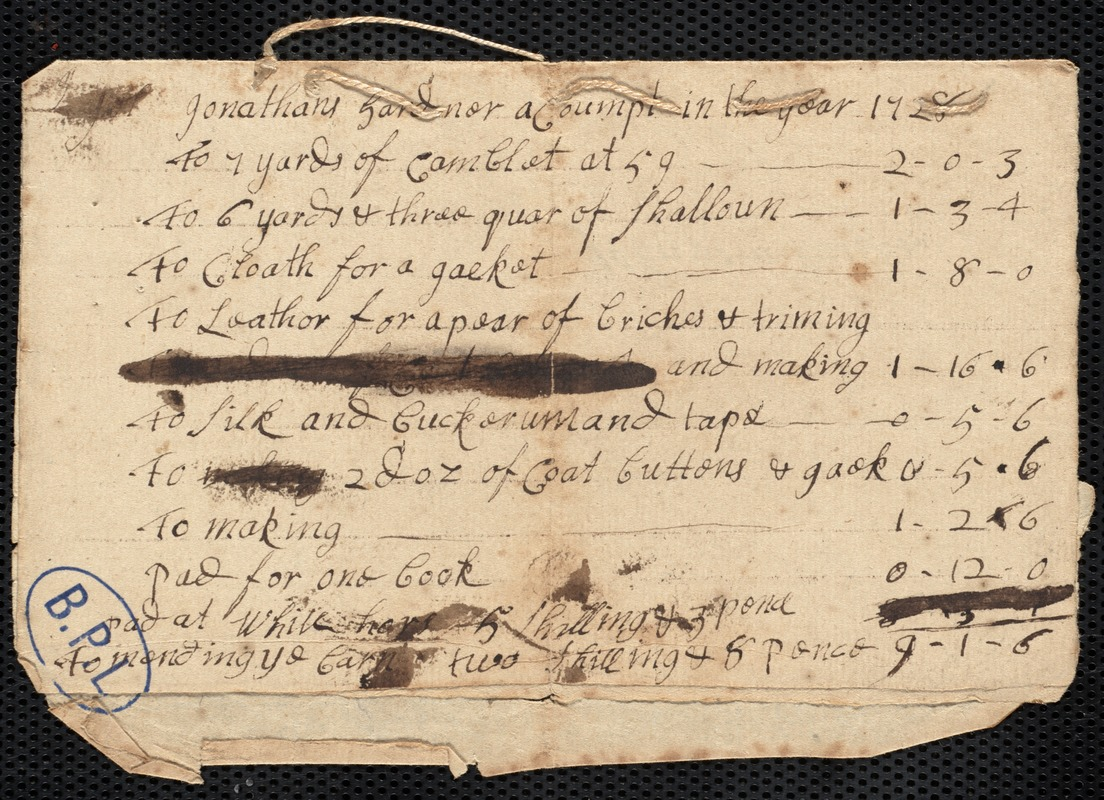 Account in the year 1728
