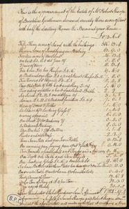 Appraisal of estate of Robert Sharpe