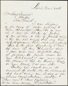 Letter from Alfred Harry Love, Philad[elphia, Pa.], to William Lloyd Garrison, March 1, 1864