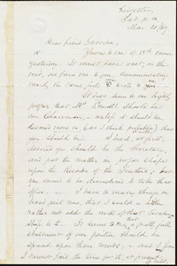 Letter from Samuel May, Jr., Leicester, [Mass.], to William Lloyd Garrison, Mar[ch] 20 / [18]69